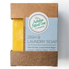 AUSTRALIAN NATURAL SOAP COMPANY DISH & LAUNDRY SOAP BAR