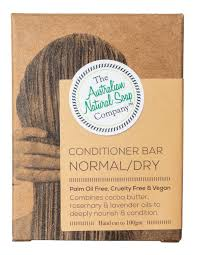 AUSTRALIAN NATURAL SOAP COMPANY CONDITIONER BAR NORMAL/DRY