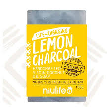 NIULIFE COCONUT OIL SOAP LEMON CHARCOAL