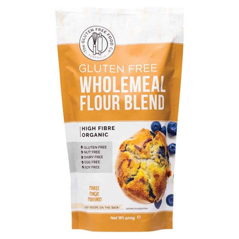 THE GLUTEN FREE FOOD CO ORGANIC WHOLEMEAL FLOUR BLEND 400g