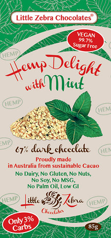 LITTLE ZEBRA CHOCOLATE HEMP DELIGHT MINT