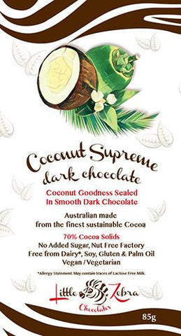 LITTLE ZEBRA CHOCOLATE COCONUT SUPREME 85g