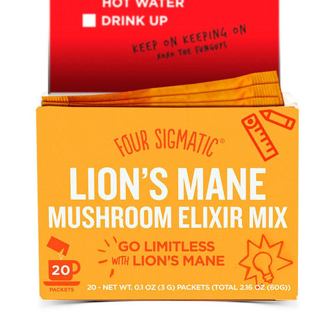 FOUR SIGMATIC MUSHROOM ELIXIR MIX LION'S MANE - 20 PACK