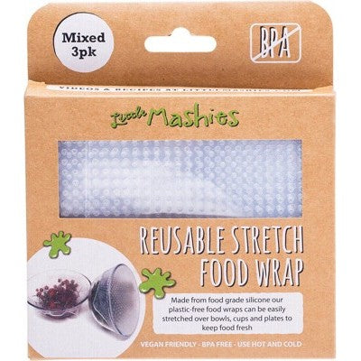 LITTLE MASHIES SILICONE FOOD WRAP 3 PACK