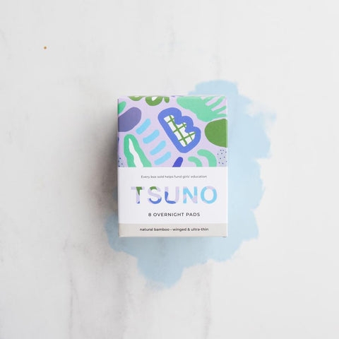 TSUNO NATURAL BAMBOO PADS OVERNIGHT