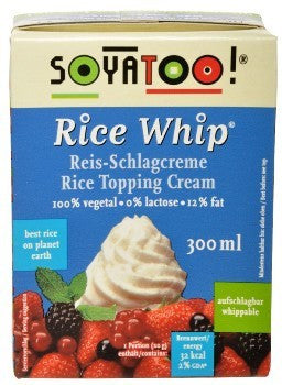 SOYATOO RICE WHIP TOPPING CREAM