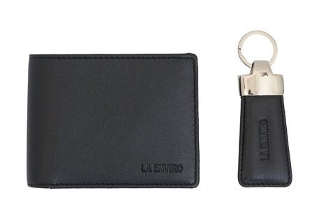 LA ENVIRO AARON MEN WALLET BLACK WITH KEY RING HOLDER