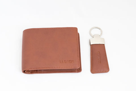 LA ENVIRO AARON MEN WALLET TAN WITH KEY RING HOLDER