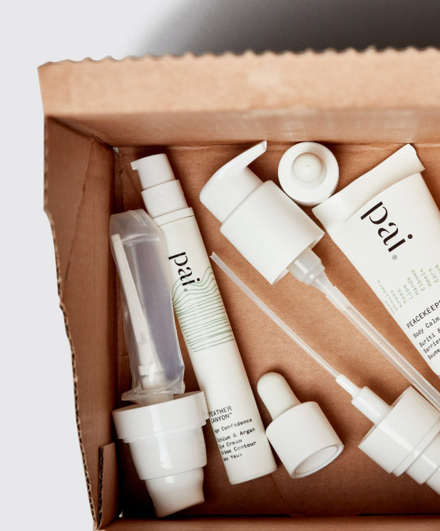 Pai Skincare packaging in a box