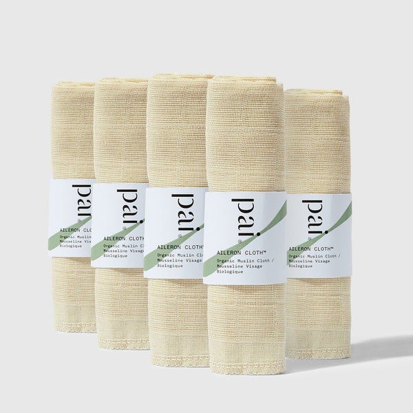 Pai Skincare Cloth The Aileron Cloths Exfoliating Organic Muslin Cloths