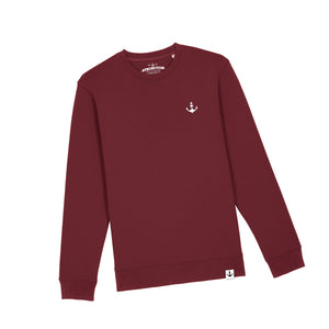 Basic Stitch Sweatshirt (Burgundy)