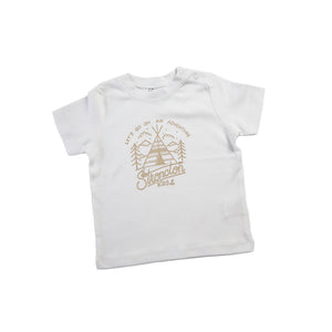 Go On Adventure Baby Shirt (White)