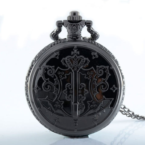 Black Butler Watch - Vintage Black Pocket Watch - AnimeBling - 1