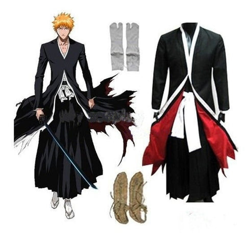 Bleach Cosplay Costumes - Bankai Ichigo Cosplay Set - AnimeBling - 1