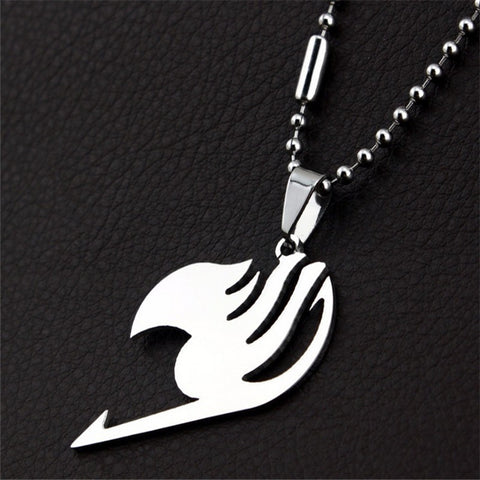 Fairy Tail Necklace - Silver Fairy Tail Logo - AnimeBling - 1