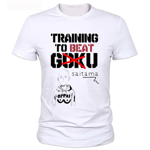 One Punch Man T Shirt - Training to beat Goku - AnimeBling - 1