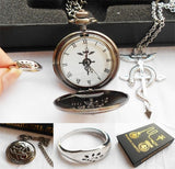 Fullmetal Alchemist Box Set - Pocket Watch + Necklace + Ring - AnimeBling - 1