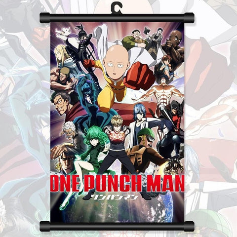 One Punch Man Poster - Saitama Wall Scroll Poster 40*60cm - AnimeBling