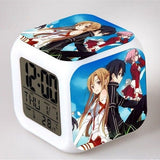 Sword Art Online - Digital Alarm Clock LED 7 Colors - AnimeBling - 1