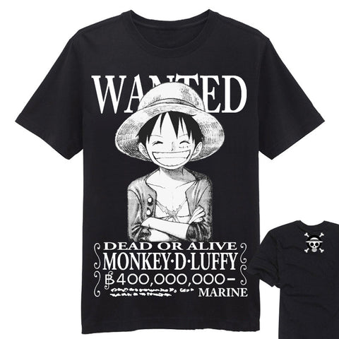 One Piece T-Shirt - Wanted Luffy Shirt - AnimeBling - 1
