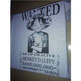 One Piece T-Shirt - Wanted Luffy Shirt - AnimeBling - 3
