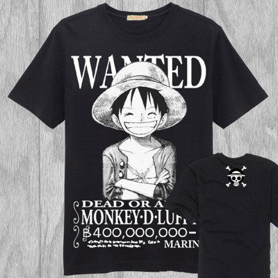 One Piece T-Shirt - Wanted Luffy Shirt - AnimeBling - 2