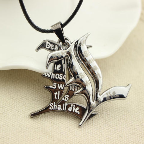 Death Note Necklace - Double L Yagami - AnimeBling - 1