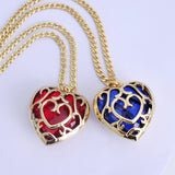 Legend of Zelda Heart Container Necklace - Red/Blue Color - AnimeBling - 7