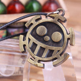 One Piece Necklace - Trafalgar Law Heart Pirates Logo - AnimeBling - 2