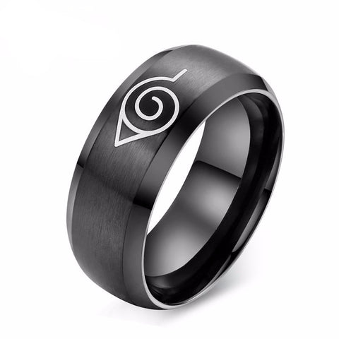 Naruto Ring - Fashion Steel Konoha Ring - AnimeBling - 1