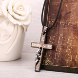 Death Note Necklace - Black Gold Cross Pendant - AnimeBling - 2