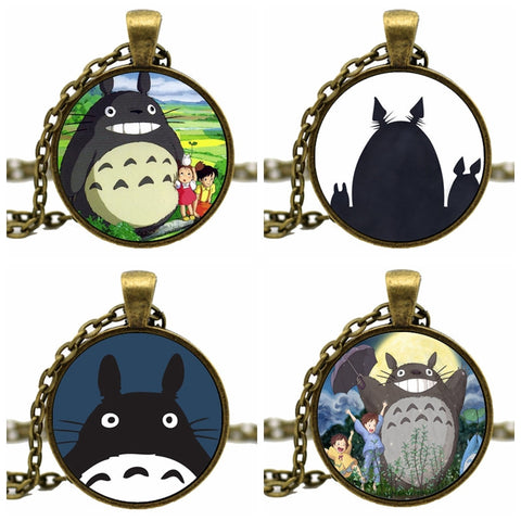 Totoro Necklace - Dome Pendant, 4 Styles - AnimeBling - 1