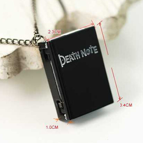 Death Note Necklace Watch - AnimeBling - 2