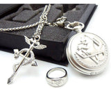 Fullmetal Alchemist Box Set - Pocket Watch + Necklace + Ring - AnimeBling - 2
