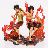 One Piece Action Figures, Luffy & Ace - 2 Pcs/Set - AnimeBling - 1