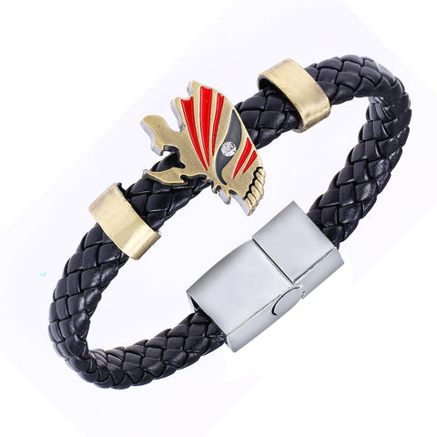 Bleach Accessories - Ichigo Hollow Mask Leather Bracelet - AnimeBling - 1