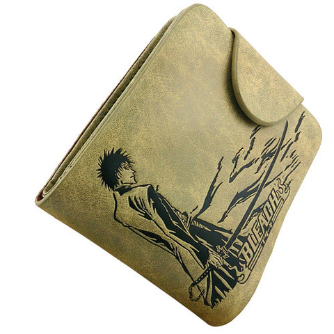 Bleach - Khaki Leather Ichigo Wallet/Purse - AnimeBling - 1