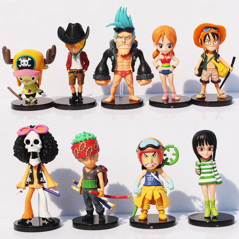 One Piece Action Figures - 9 Pcs/Set - AnimeBling - 1