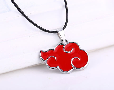Naruto Necklace - Red Akatsuki Cloud - AnimeBling - 1