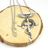 Fullmetal Alchemist Necklace - Snake Cross Logo - AnimeBling - 2