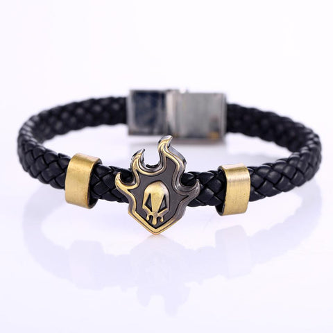 Bleach Accessories - Shinigami Skull Bronze Bracelet - AnimeBling - 2