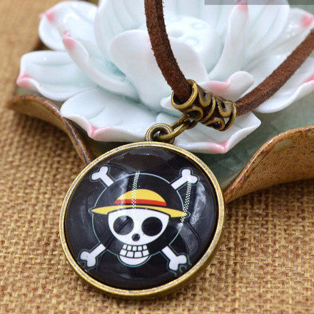 One Piece Necklace - Strawhat Pirates Pendant - AnimeBling