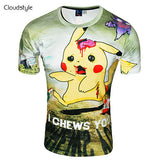 Pokemon T Shirt - Pikachu Zombie I Chews You - AnimeBling - 3