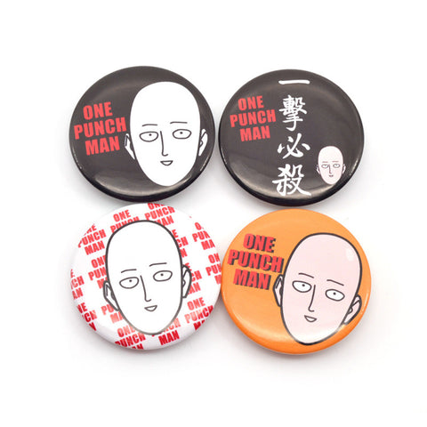 One Punch Man Pin Badges - 4 Pcs/Set - AnimeBling - 1