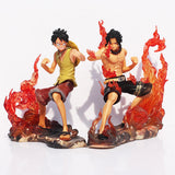 One Piece Action Figures, Luffy & Ace - 2 Pcs/Set - AnimeBling - 2