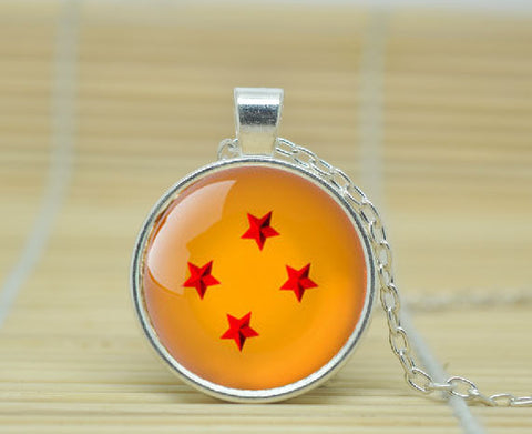Dragon Ball Necklace - 4 Star Pendant - AnimeBling - 1
