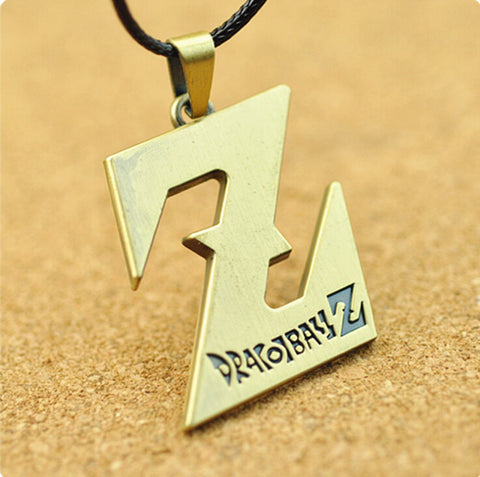 Dragon Ball Z Necklace - Gold Z Style - AnimeBling - 1