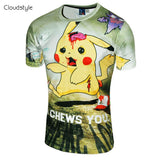 Pokemon T Shirt - Pikachu Zombie I Chews You - AnimeBling - 2