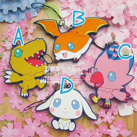 Digimon Keychain - 4 Pcs/Set - AnimeBling - 1