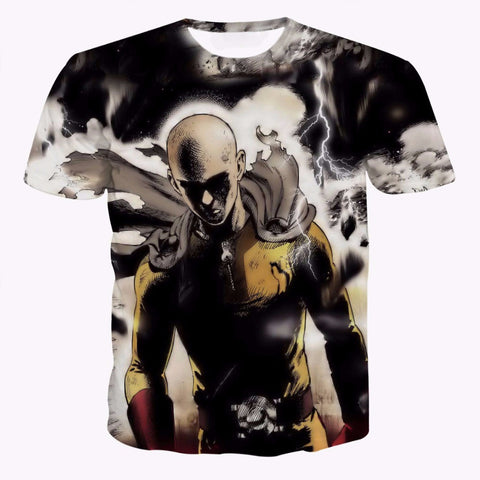 One Punch Man T Shirt - 3D Saitama - AnimeBling - 1
